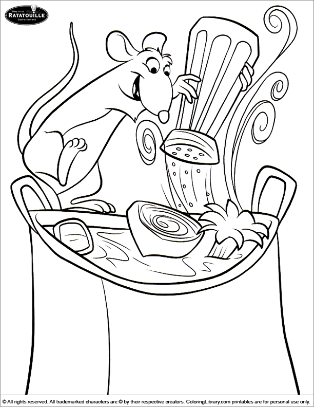 Ratatouille Coloring Pages Ratatouille Cooking Coloring Pages For