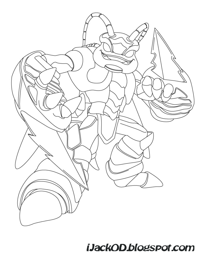 giant coloring pages - Skylanders Coloring Pages Ninjini