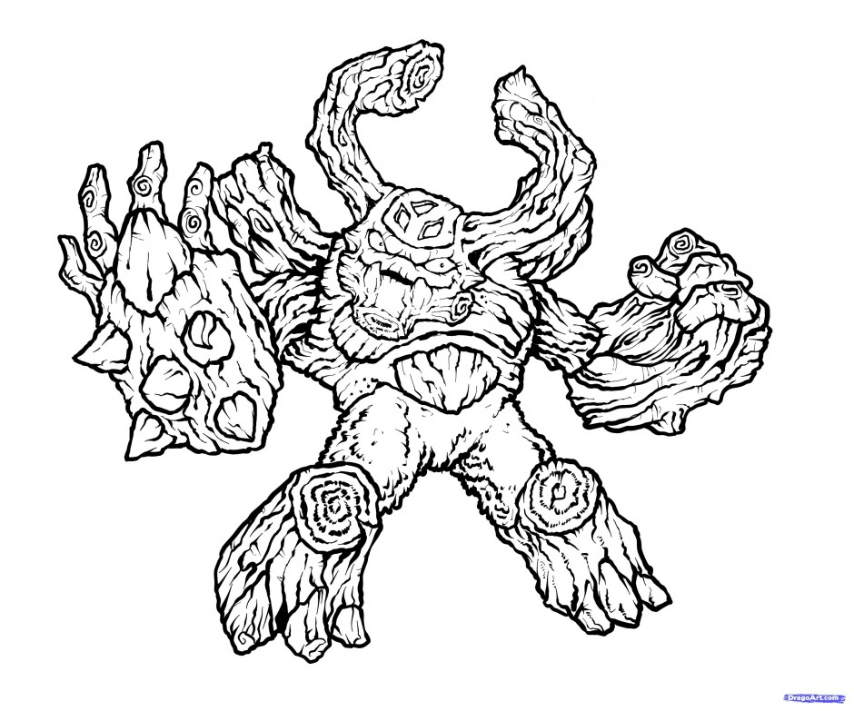 Cool Skylander Giant Coloring Pages With Page