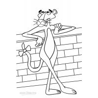 Pink panther cartoon coloring pages