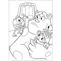Monster inc coloring pages