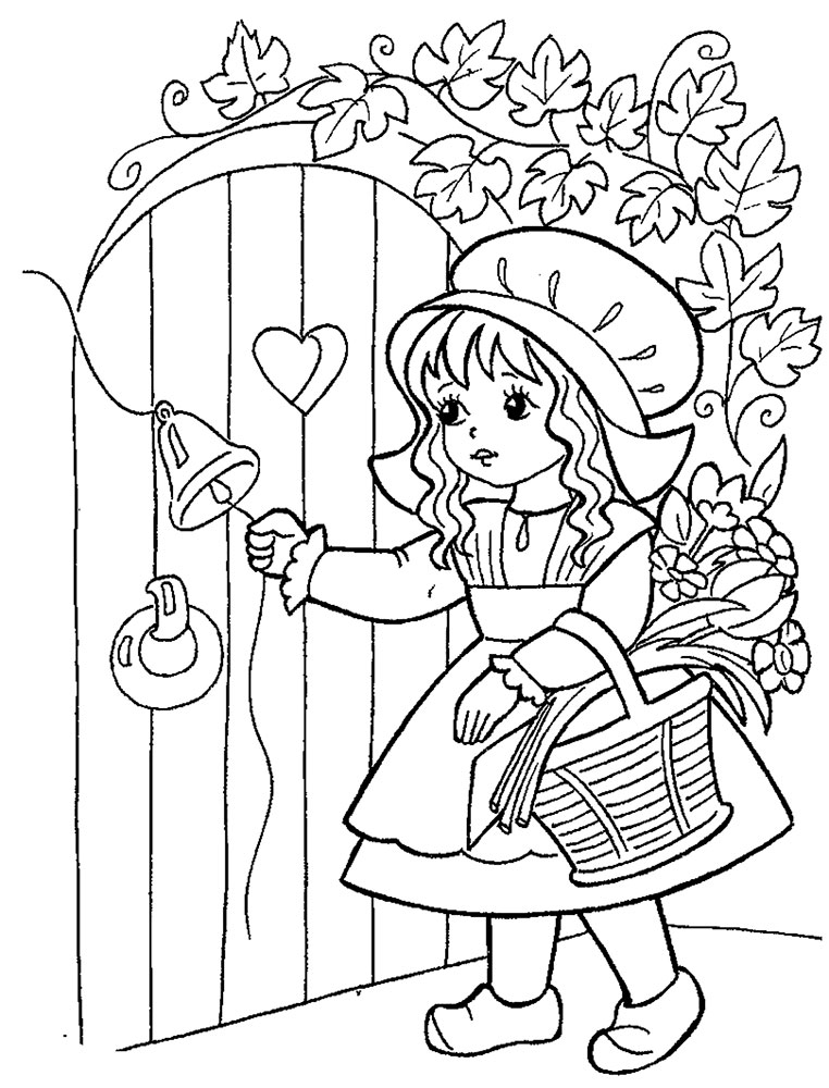 Free Little red riding hood coloring pages to print for kids. Download ...