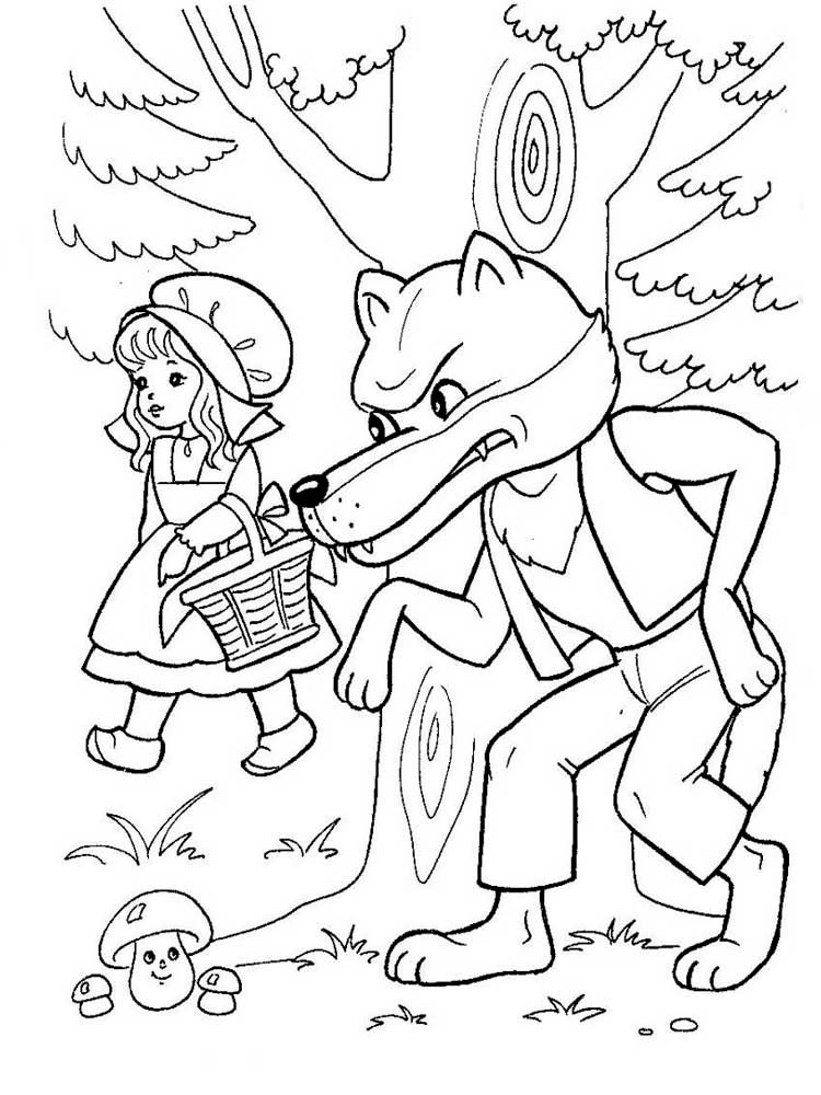 red riding hood coloring pages - photo#15
