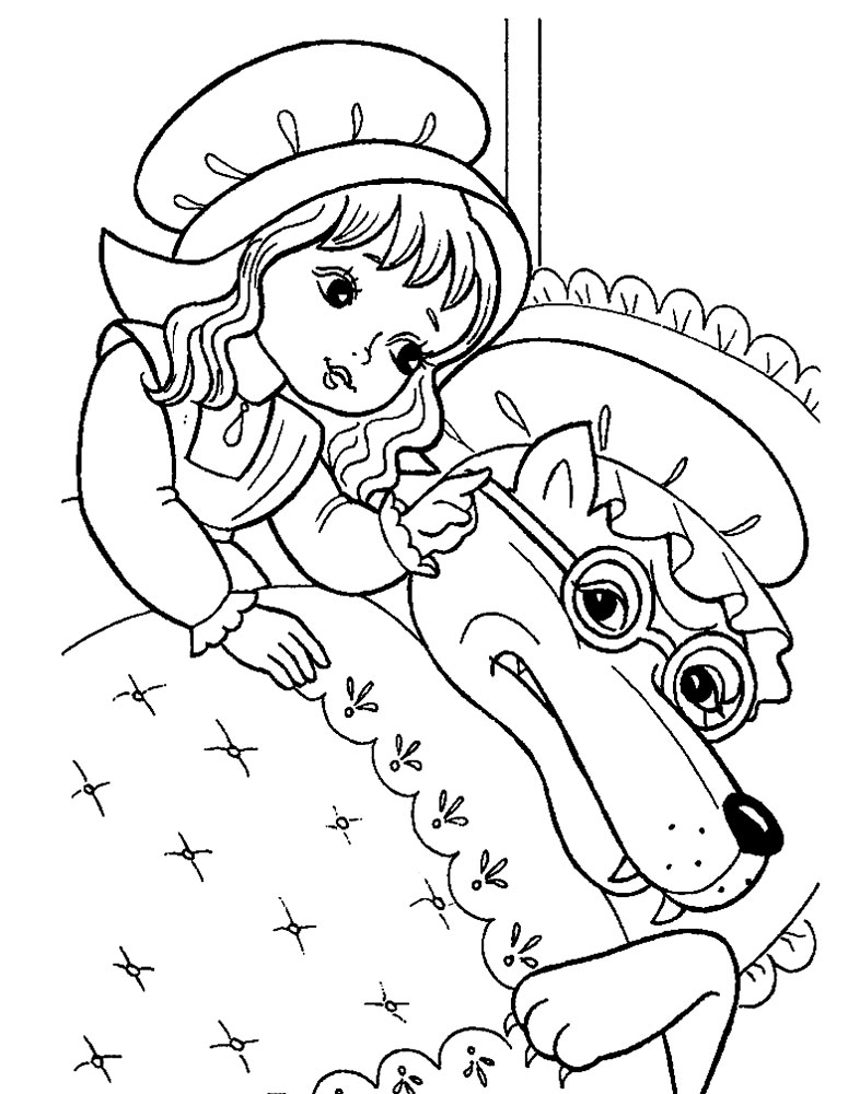 red riding hood coloring pages - photo#10