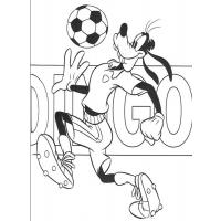 Goofy cartoon coloring pages