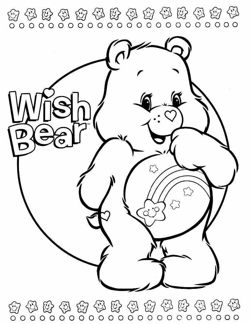 Uncategorized Care Bear Coloring Sheets bear coloring pages care pages