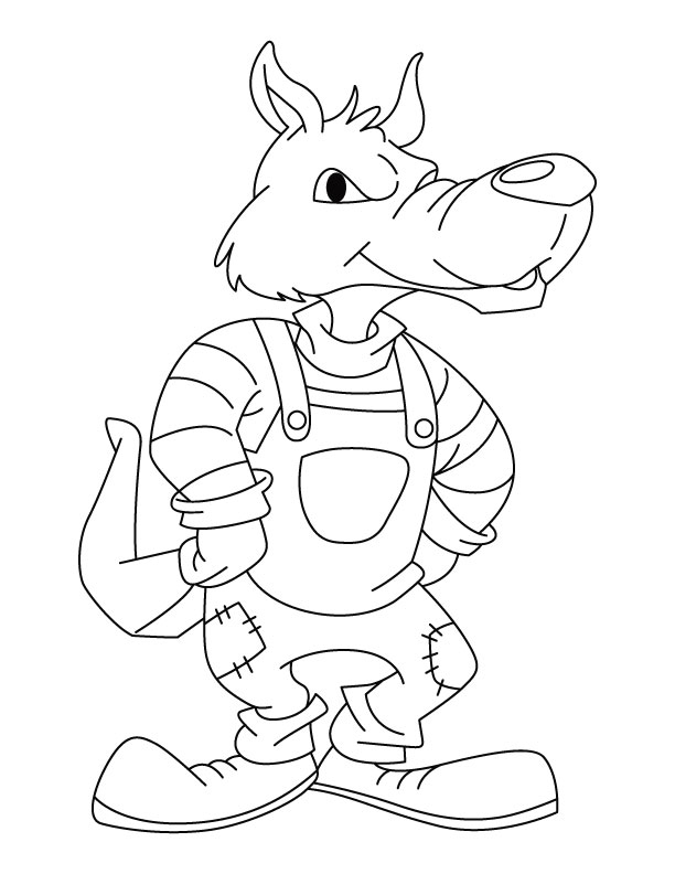 bad wolf coloring pages - Wolf Coloring Pages