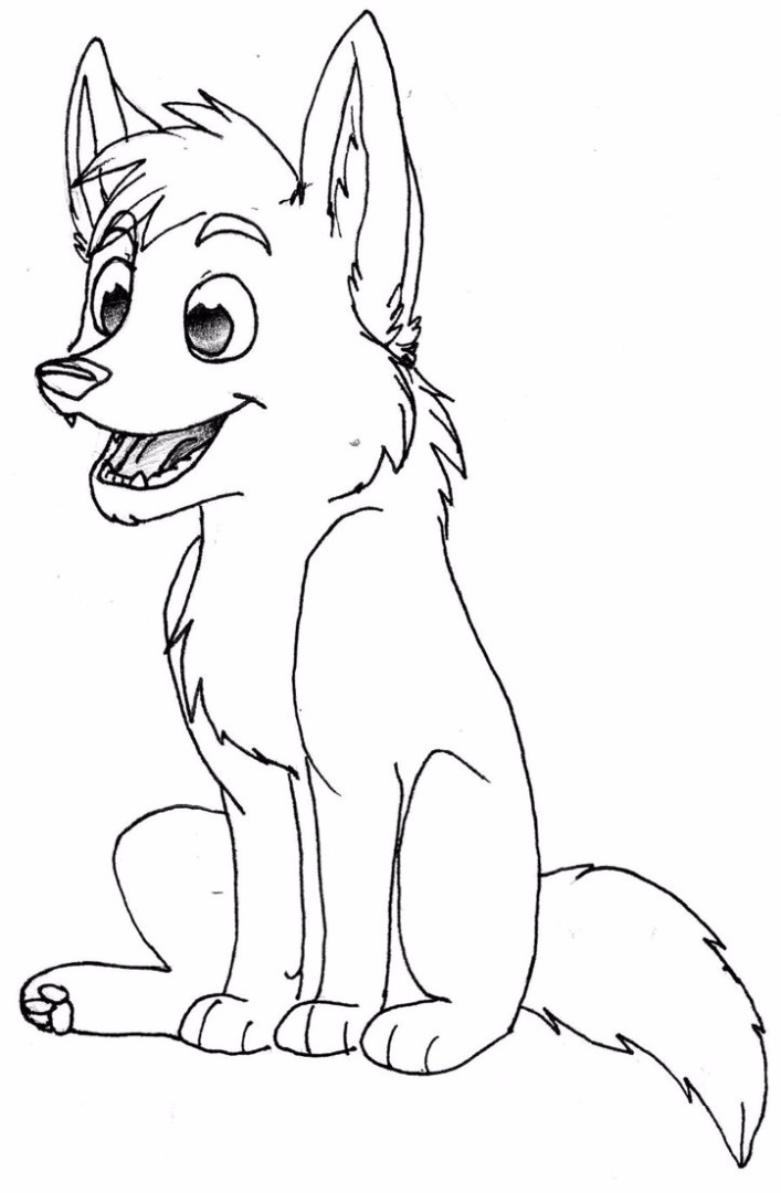 Bad wolf coloring pages