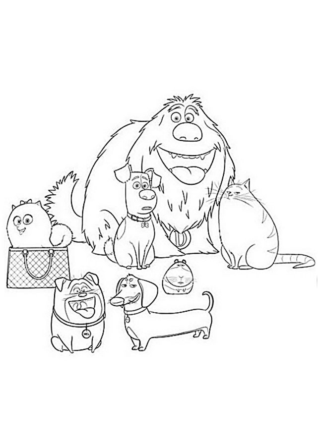 the secret of pets coloring pages