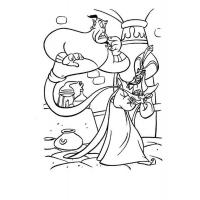 Aladdin coloring pages