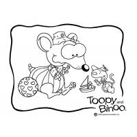 Toopy and binoo coloring pages