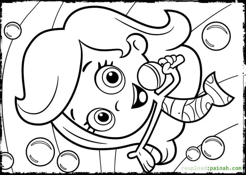 Bubble Guppies Coloring Pages Guppies Coloring Page