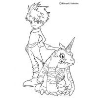 Greymon coloring pages