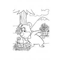 Yogi Bear coloring pages