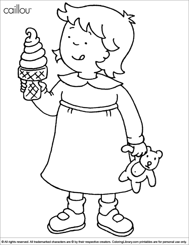 caillou coloring pages - Caillou Gilbert Coloring Pages