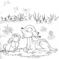 Bambi and friends coloring pages