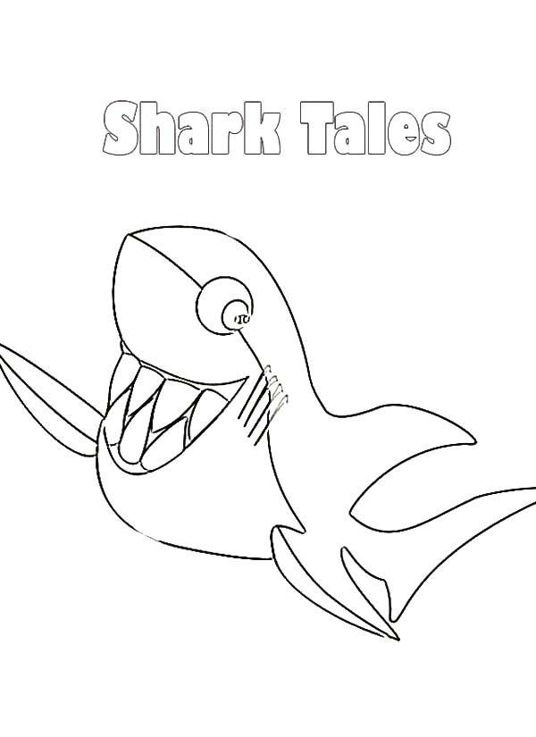 Shark Tale Coloring Book - Worksheet & Coloring Pages