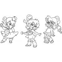 Alvin chipettes coloring pages