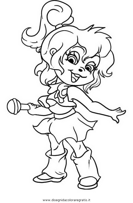 Alvin chipettes coloring pages for Chipettes coloring pages to print