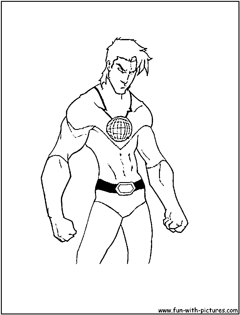captain planet coloring pages - Planets Coloring Pages Printables