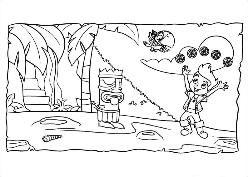 neverland pirates coloring free printable pages for - Jake Neverland Coloring Pages