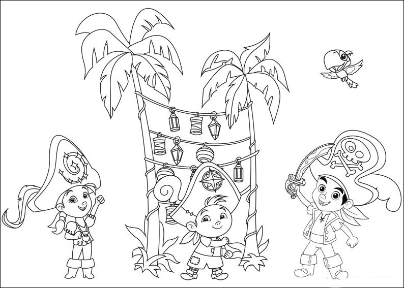 Jake and the never land pirates coloring pages for Jake the pirate coloring pages