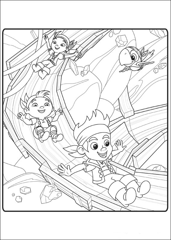 coloring pages jake and the neverland pirates  Coloring Pages For