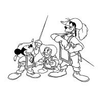 Mickey mouse musketeer coloring pages