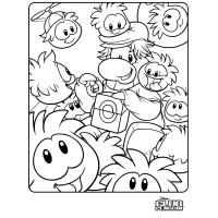 Club penguin coloring pages