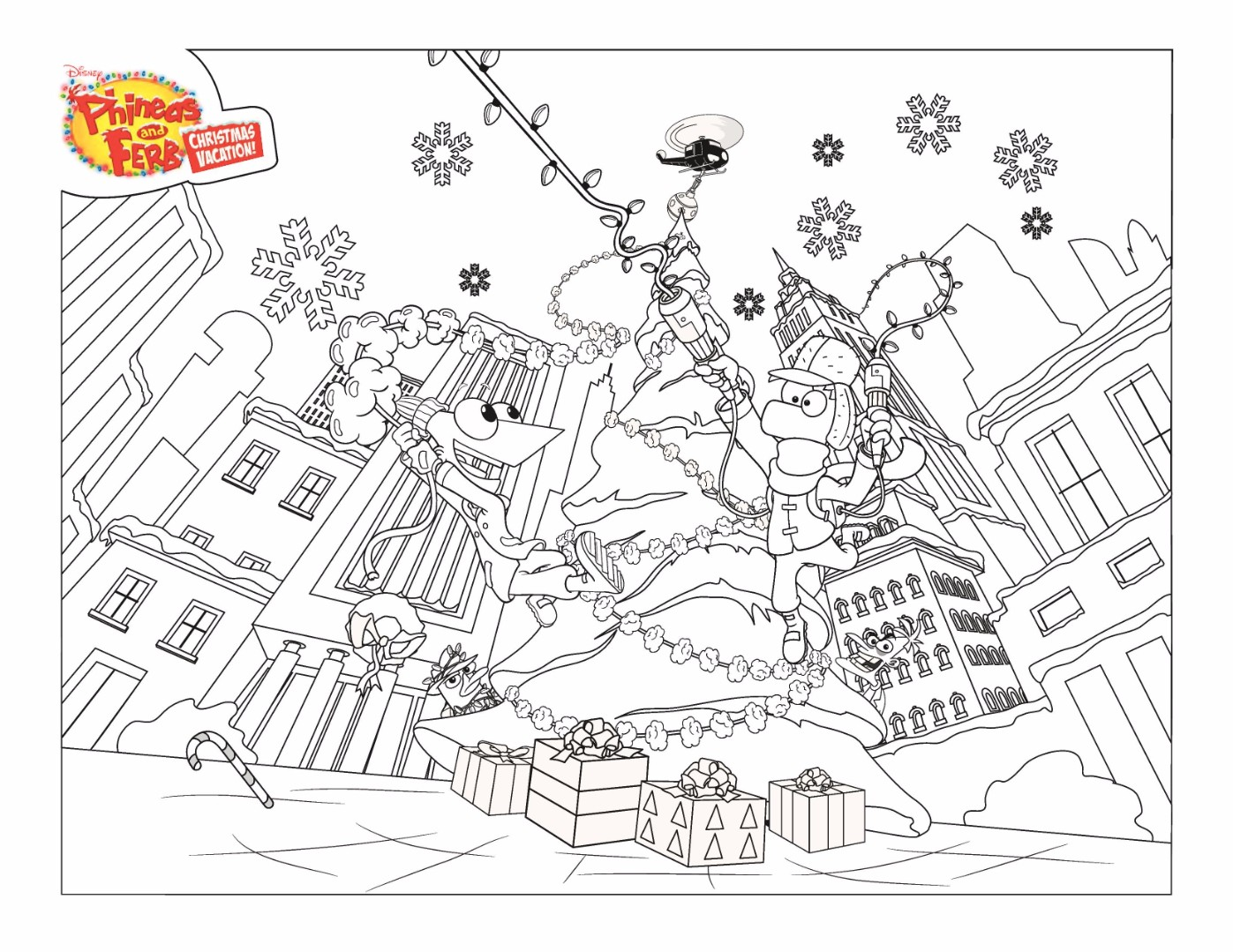 phineas and ferb coloring pages - Phineas And Ferb Coloring Pages 2