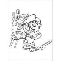 Adiboo coloring pages