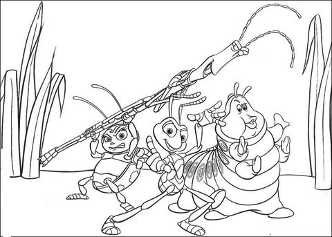 bugs life characters coloring pages - photo#34