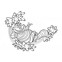 Cheshire Cat Coloring Pages