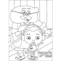 Franny's Feet coloring pages