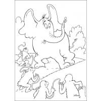 Horton coloring pages