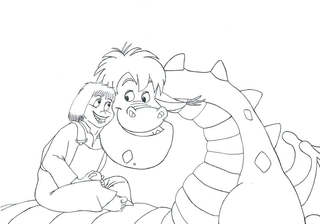 Pete The Dragon Coloring Pages
