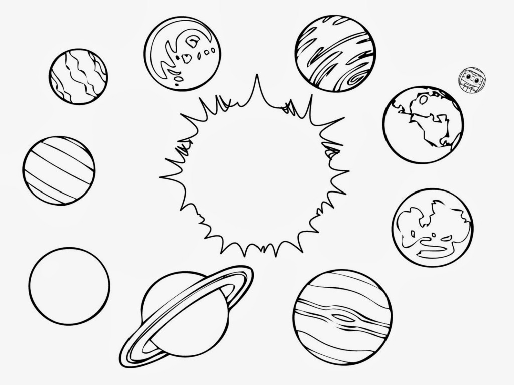 Coloring pages solar system letters - Solar System Coloring Pages