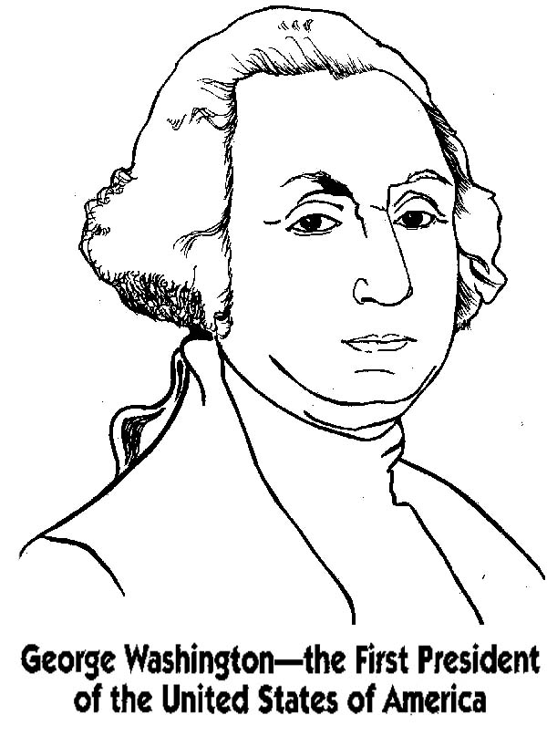 President George Washington Coloring Pages Coloring Page Of George Washington
