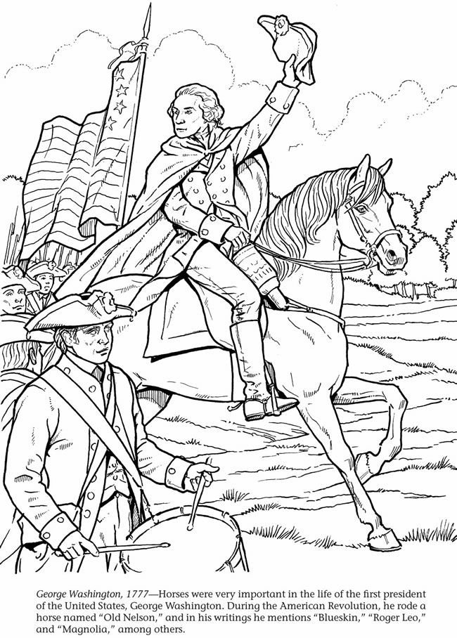 president george washington coloring pages - George Washington Coloring Page