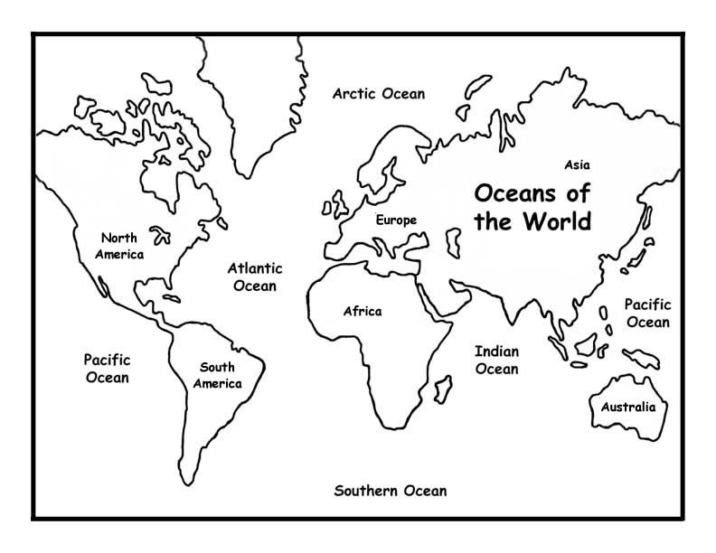 continents map coloring pages - Pictures To Colour For Kids