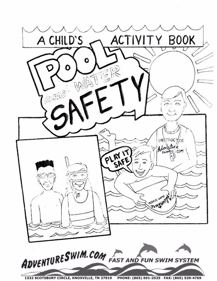 Uncategorized Internet Safety Coloring Pages safety coloring pages swimming pages