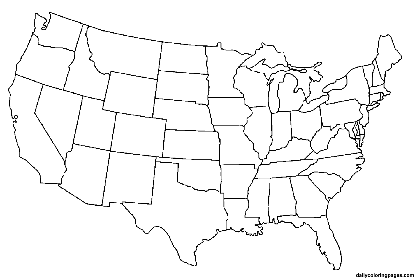 state map coloring pages - Map Coloring Pages