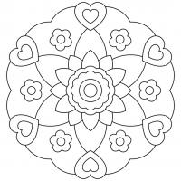 Coloring pages anti-stress for children
