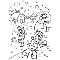 Healthy lifestyle coloring pages