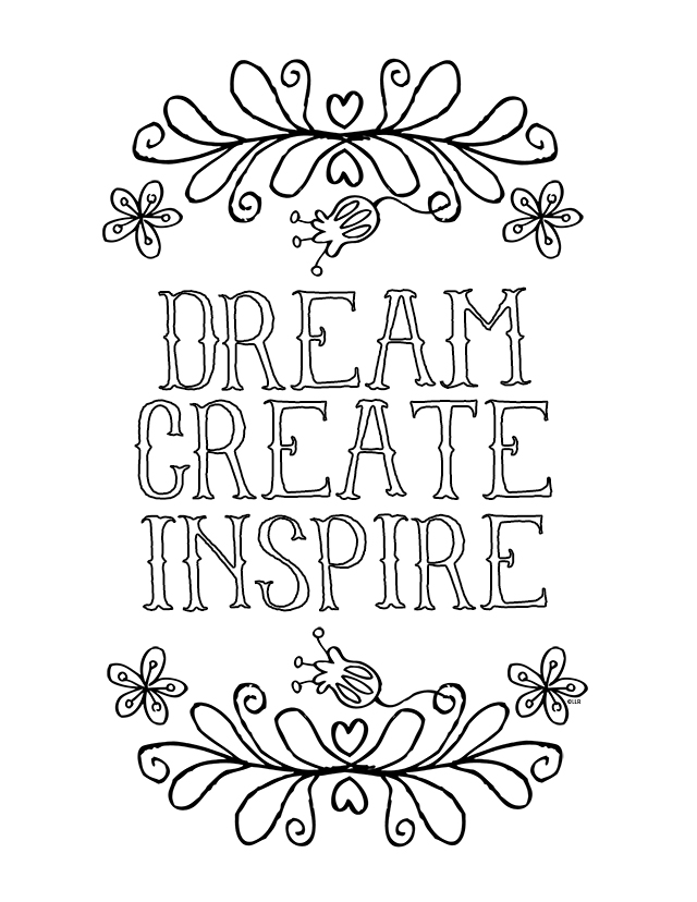 inspirational coloring pages - Free Inspirational Coloring Pages For Adults