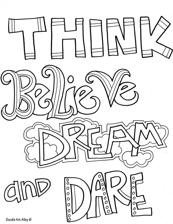 inspirational coloring pages - Inspirational Word Coloring Pages
