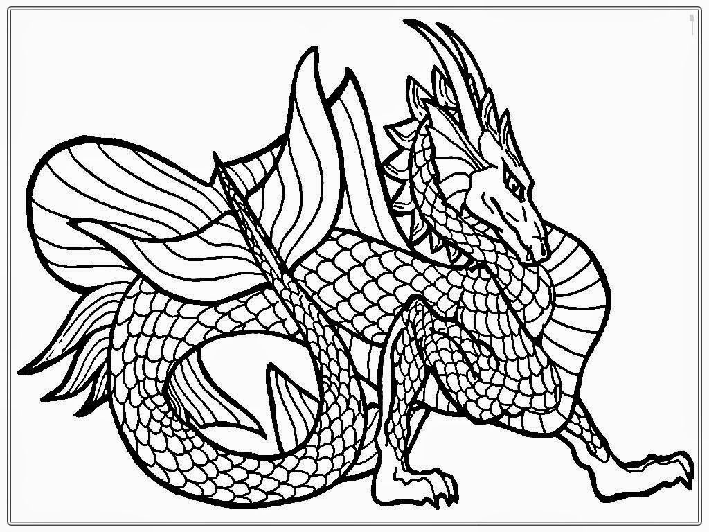 dragon coloring pages for adults - Dragon Coloring Page