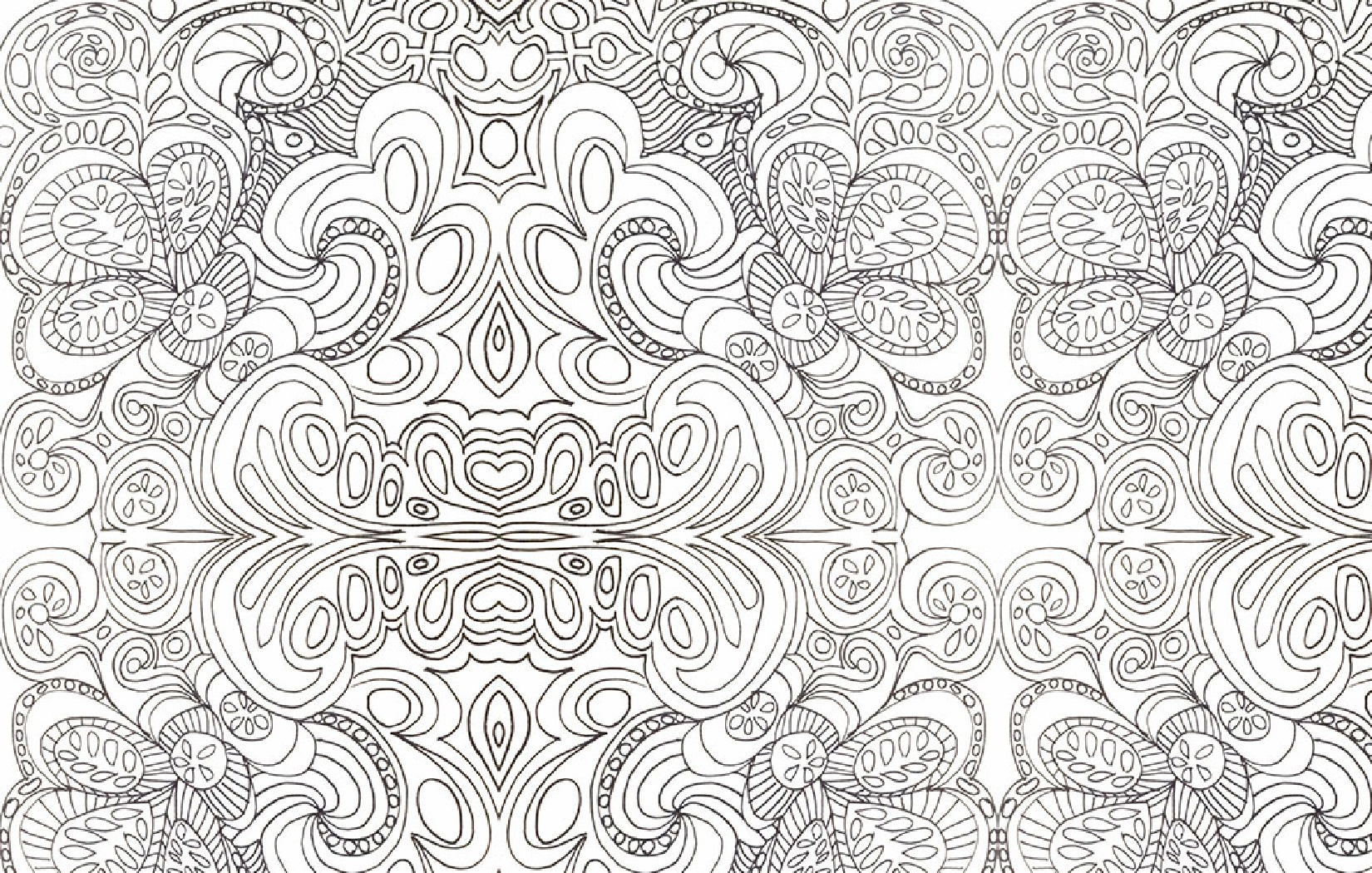 psychedelic coloring pages - Trippy Coloring Pages
