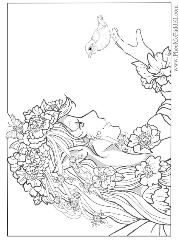 fantasy coloring pages for adults - Fantasy Coloring Pages Adults