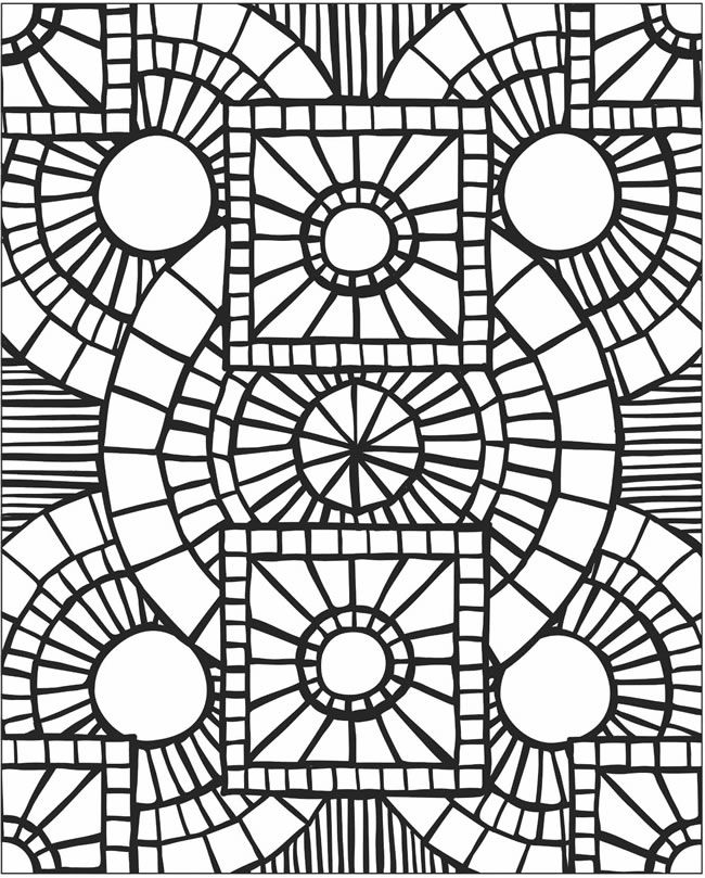 Mosaic Coloring Pages Coloring Pages